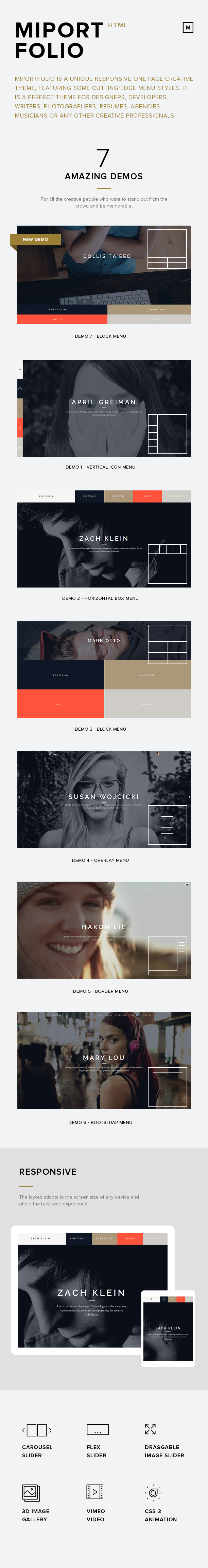 Miportfolio- Responsive One Page Creative Template